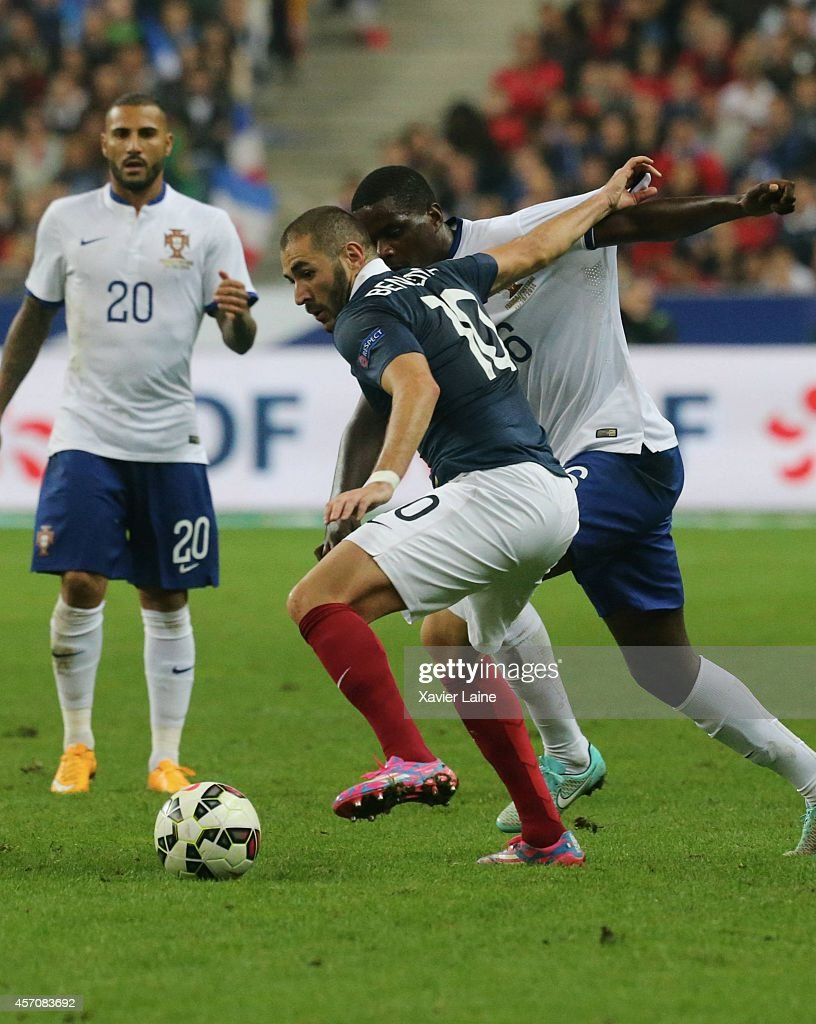 Karim Benzema of France during the International Friendly Soccer match between France and Portugal at Stade de France on october 11, 2014 in Paris, France.