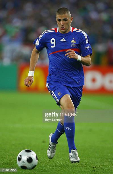 Karim Benzema of France in action during the UEFA EURO 2008 Group C match between France and Italy at Letzigrund Stadion on June 17 2008 in Zurich...