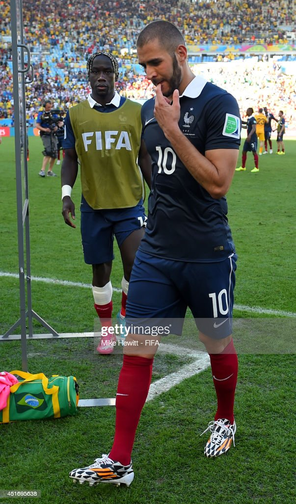 Karim Benzema of France walks off the pitch after the 0-1 defeat in the 2014 FIFA World Cup Brazil Quarter Final match between France and Germany at Maracana on July 4, 2014 in Rio de Janeiro, Brazil.