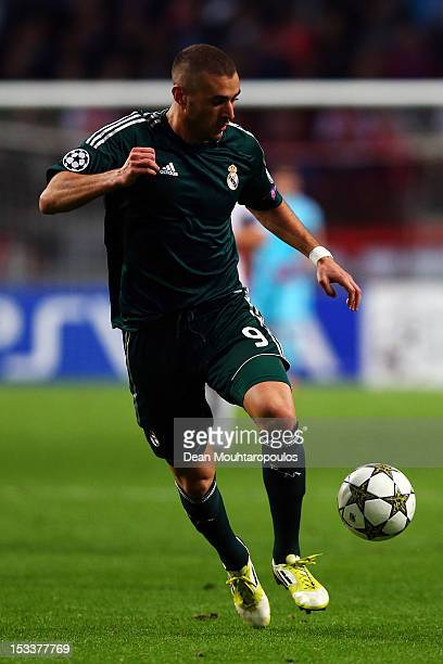 Karim Benzema of Real in action during the UEFA Champions League Group D match between Ajax Amsterdam and Real Madrid at Amsterdam Arena on October 3...