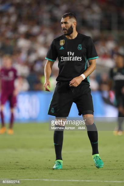 Karim Benzema of Real Madrid during the International Champions Cup 2017 match between Manchester City and Real Madrid at Los Angeles Memorial...