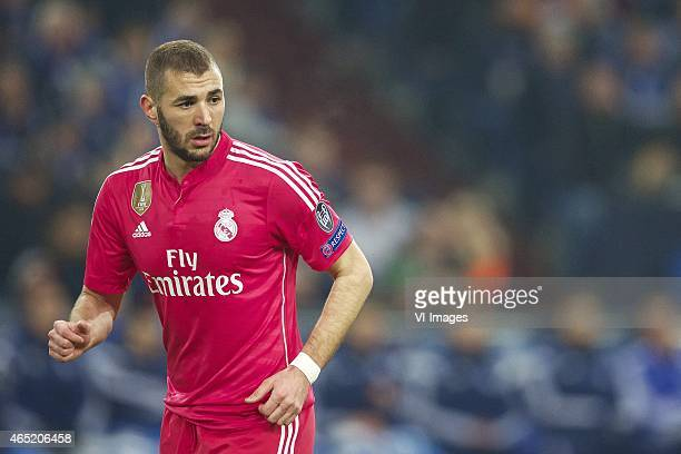 Karim Benzema of Real Madrid during the round of 16 UEFA Champions League match between Schalke 04 and Real Madrid on February 18 2015 at the Veltins...