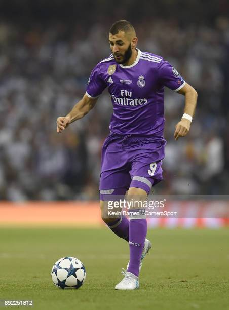 Karim Benzema of Real Madrid during the UEFA Champions League Final match between Juventus and Real Madrid at National Stadium of Wales on June 3...