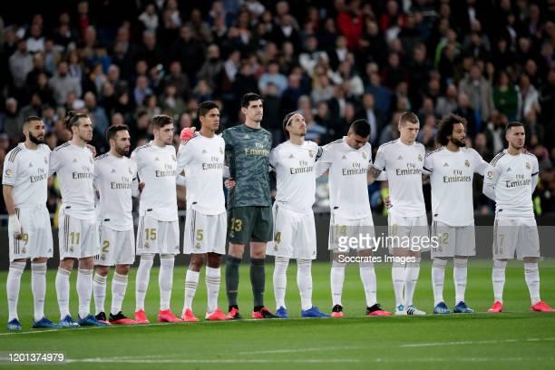 Karim Benzema of Real Madrid Gareth Bale of Real Madrid Dani Carvajal of Real Madrid Federico Valverde of Real Madrid Raphael Varane of Real Madrid...