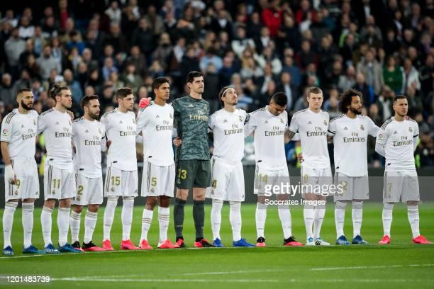 Karim Benzema of Real Madrid Gareth Bale of Real Madrid Dani Carvajal of Real Madrid Fede Valverde of Real Madrid Raphael Varane of Real Madrid...