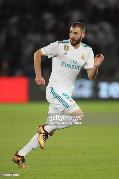 Karim Benzema of Real Madrid in action during the FIFA Club World Cup UAE 2017 final match between Gremio and Real Madrid CF at Zayed Sports City...