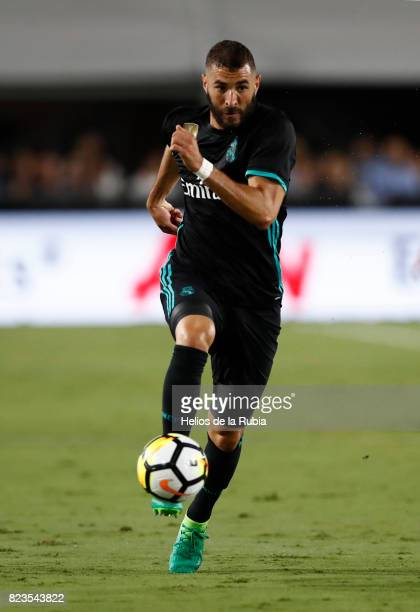 Karim Benzema of Real Madrid in action during the International Champions Cup 2017 match between Manchester City v Real Madrid at Memorial Coliseum...