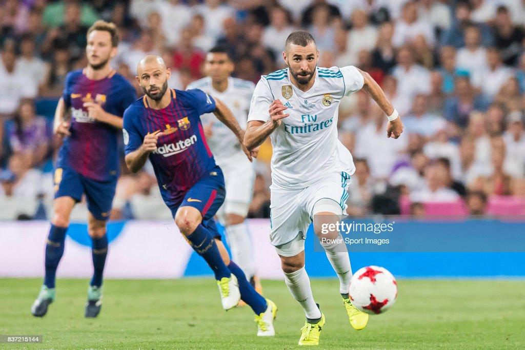 Supercopa de Espana Final 2nd Leg match - Real Madrid vs FC Barcelona : News Photo