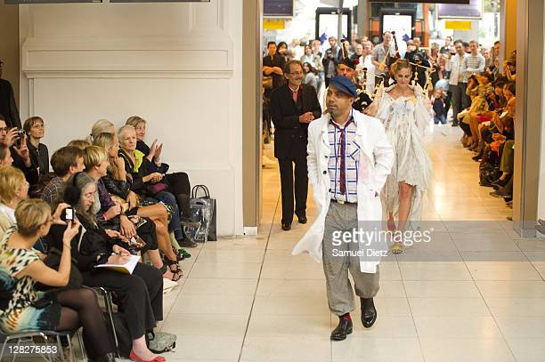 Karim Bonnet during the Impasse De La Defense Ready to Wear Spring / Summer 2012 show during Paris Fashion Week at Gare d'Austerlitz on October 5,...