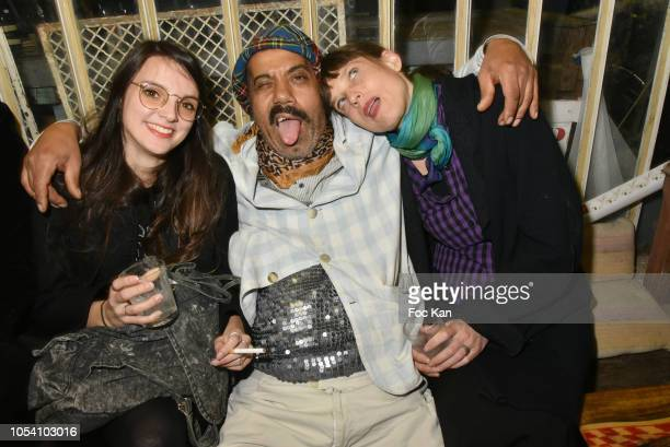 Karim Bonnet fashion designer from Impasse De La Defense and guests attend Harvey Ambomo BDay Party at 15 Rue Polonceau on October 26, 2018 in Paris,...