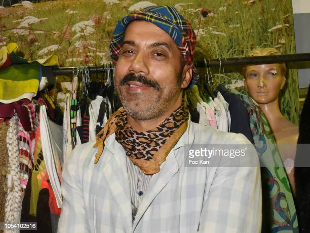 Karim Bonnet fashion designer from Impasse De La Defense attends Harvey Ambomo BDay Party at 15 Rue Polonceau on October 26, 2018 in Paris, France.