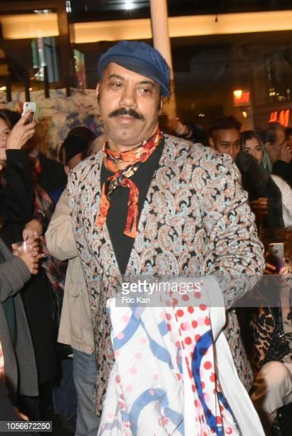 Karim Bonnet fashion designer of Impasse De la Defense attends the Impasse De La Defense Show At Galerie 59 Rue de Rivoli on November 2, 2018 in...
