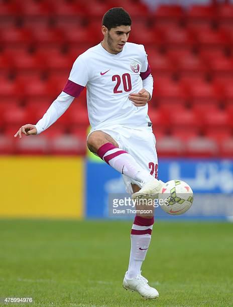 Karim Boudiaf of Qatar during the International friendly match between Northern Ireland and Qatar at The Alexandra Stadium on May 31 2015 in Crewe...