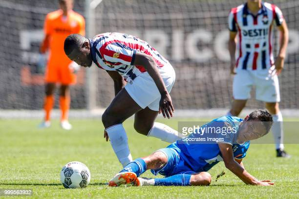 Karim Coulibaly of Willem II Yuya Kubo of KAA Gent during the match between Willlem II v KAA Gent on July 14 2018 in TILBURG Netherlands