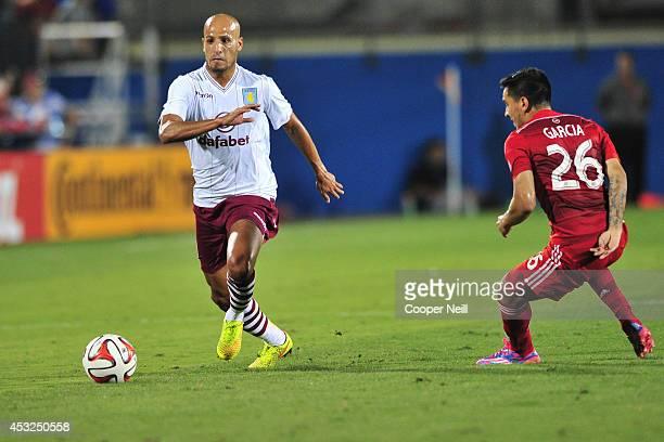Karim El Ahmadi of Aston Villa controls the ball against FC Dallas during an international friendly on July 23 2014 at Toyota Stadium in Frisco Texas
