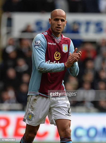 Karim El Ahmadi of Aston Villa during the Barclays Premier League match between Newcastle United and Aston Villa at St James' Park on February 23...