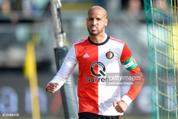 Karim El Ahmadi of Feyenoord celebrate 22 during the Dutch Eredivisie match between ADO Den Haag v Feyenoord at the Cars Jeans Stadium on November 5...