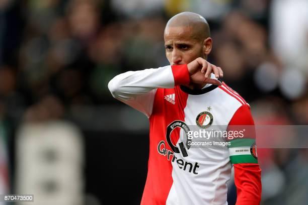 Karim El Ahmadi of Feyenoord during the Dutch Eredivisie match between ADO Den Haag v Feyenoord at the Cars Jeans Stadium on November 5 2017 in Den...