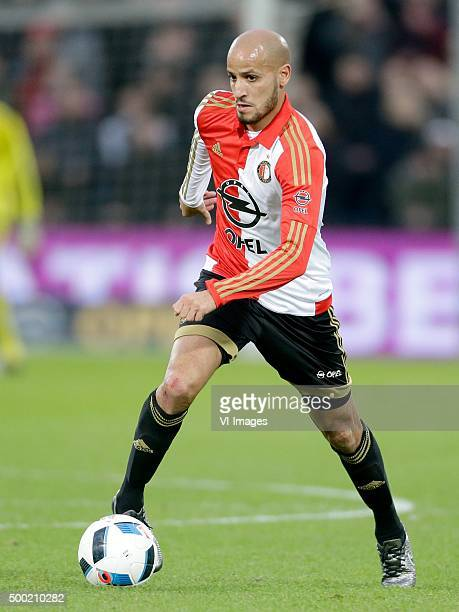 Karim El Ahmadi of Feyenoord during the Dutch Eredivisie match between Feyenoord and Heracles Almelo at the Kuip on December 6 2015 in Rotterdam The...