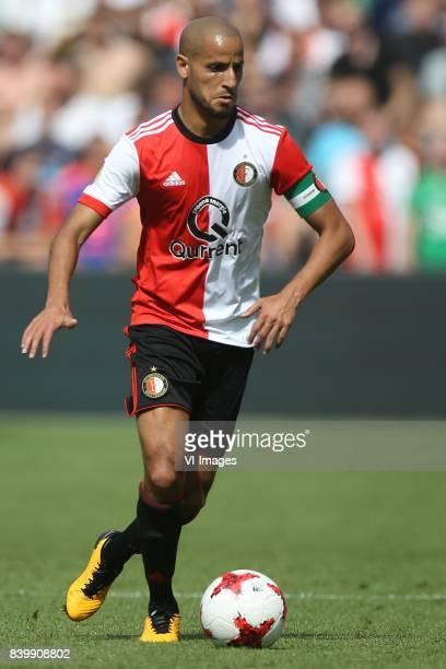 Karim El Ahmadi of Feyenoord during the Dutch Eredivisie match between Feyenoord Rotterdam and Willem II Tilburg at the Kuip on August 27 2017 in...