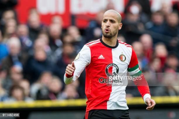 Karim El Ahmadi of Feyenoord during the Dutch Eredivisie match between Feyenoord Rotterdam and ADO Den Haag at the Kuip on January 28 2018 in...