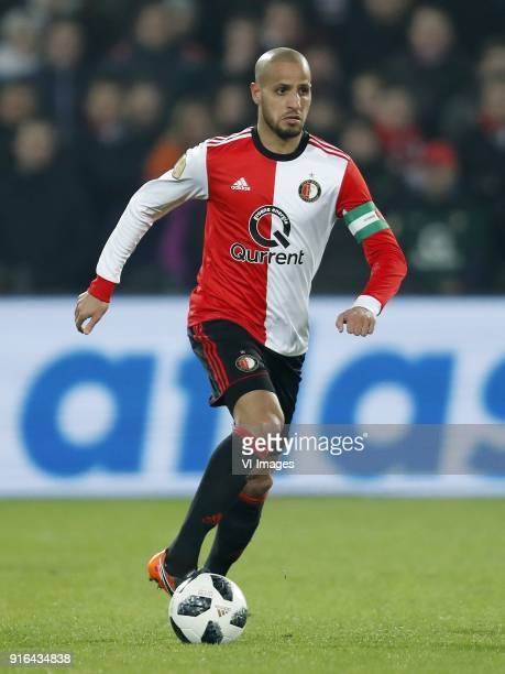 Karim El Ahmadi of Feyenoord during the Dutch Eredivisie match between Feyenoord Rotterdam and FC Groningen at the Kuip on February 08 2018 in...