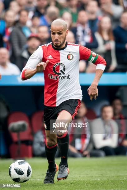 Karim El Ahmadi of Feyenoord during the Dutch Eredivisie match between Feyenoord Rotterdam and FC Utrecht at the Kuip on April 15 2018 in Rotterdam...