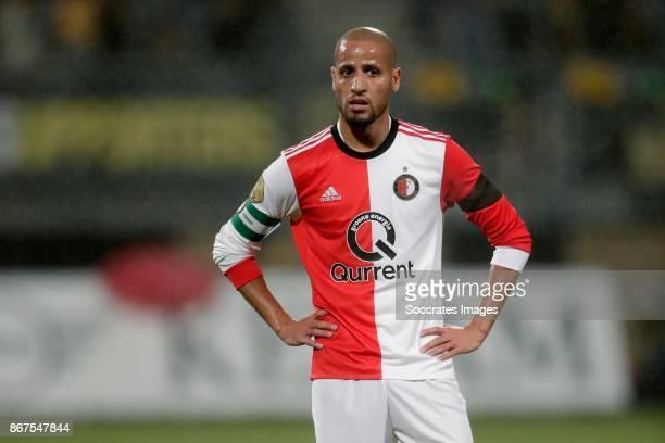 Karim El Ahmadi of Feyenoord during the Dutch Eredivisie match between Roda JC v Feyenoord at the Parkstad Limburg Stadium on October 28 2017 in...