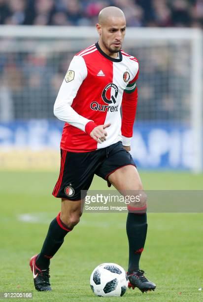 Karim El Ahmadi of Feyenoord during the Dutch Eredivisie match between Feyenoord v ADO Den Haag at the Stadium Feijenoord on January 28 2018 in...
