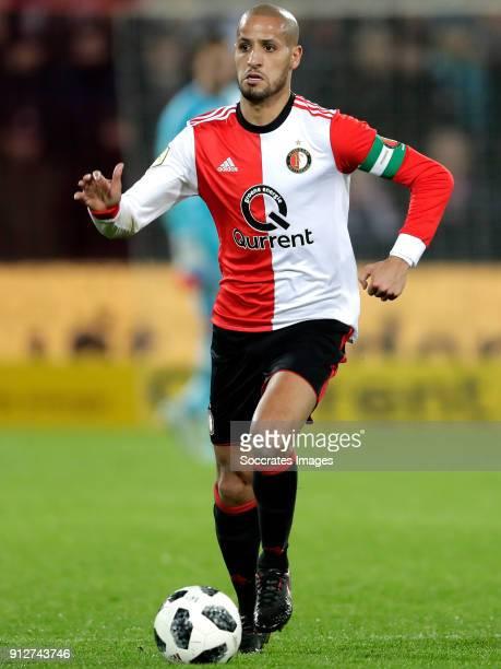 Karim El Ahmadi of Feyenoord during the Dutch KNVB Beker match between Feyenoord v PSV at the Stadium Feijenoord on January 31 2018 in Rotterdam...