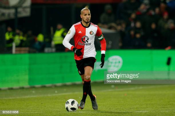 Karim El Ahmadi of Feyenoord during the Dutch KNVB Beker match between Feyenoord v Willem II at the Stadium Feijenoord on February 28 2018 in...
