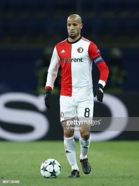 Karim El Ahmadi of Feyenoord during the UEFA Champions League group F match between Shakhtar Donetsk and Feyenoord Rotterdam at Metalist Stadium on...
