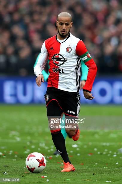 Karim El Ahmadi of Feyenoord in action during the Dutch Eredivisie match between Feyenoord and PSV Eindhoven at De Kuip on February 26 2017 in...