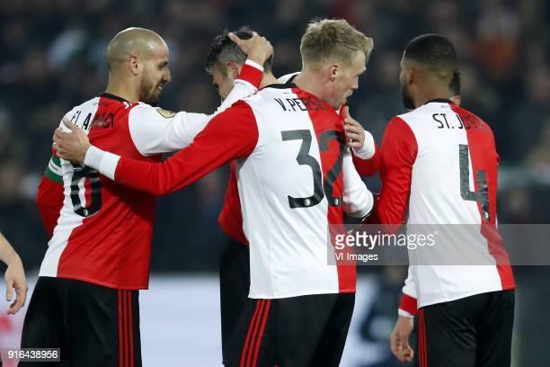 Karim El Ahmadi of Feyenoord Robin van Persie of Feyenoord Nicolai Jorgensen of Feyenoord Jeremiah St Juste of Feyenoord during the Dutch Eredivisie...