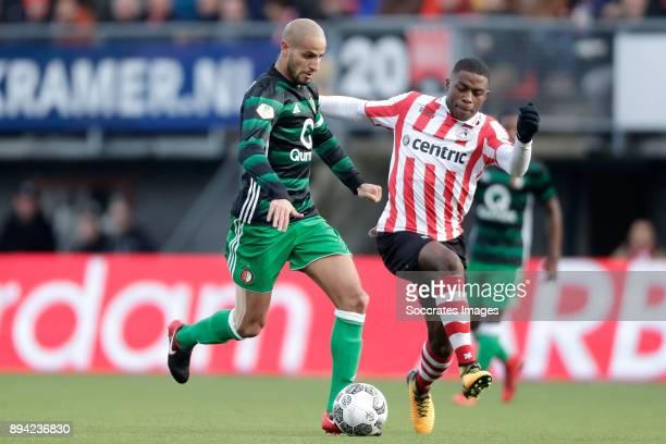Karim El Ahmadi of Feyenoord Sherel Floranus of Sparta Rotterdam during the Dutch Eredivisie match between Sparta v Feyenoord at the Sparta Stadium...