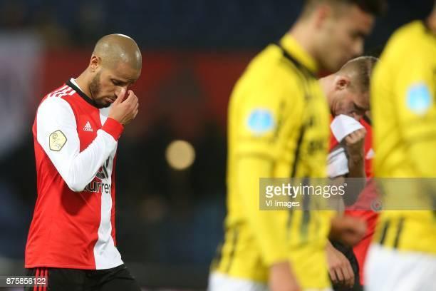 Karim El Ahmadi of Feyenoord Sven van Beek of Feyenoord during the Dutch Eredivisie match between Feyenoord Rotterdam and VVV Venlo at the Kuip on...