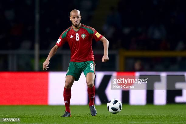 Karim El Ahmadi of Morocco in action during the International friendly football match between Morocco and Serbia Morocco won 21 over Serbia