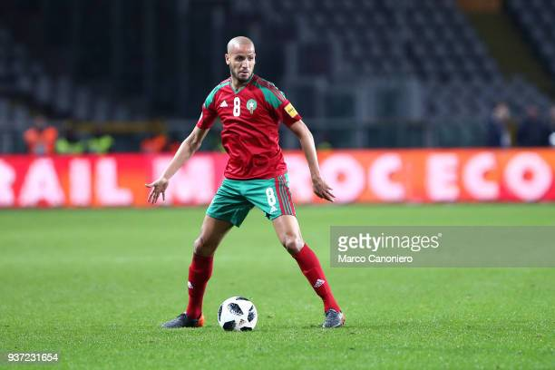 Karim El Ahmadi of Morocco in action during the international friendly match between Serbia and Morocco Morocco wins 21 over Serbia