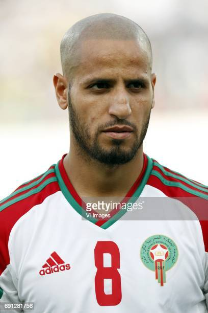 Karim El Ahmadi of Moroccoduring the friendly match between Morocco and The Netherlands at Grand Stade Adrar on May 31 2017 in Agadir Morocco