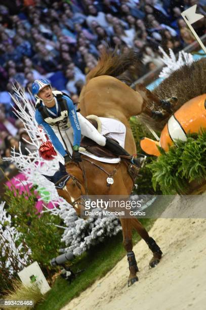 Karim Florent LAGHOUAG of France riding Punch de l'Esques during the Cross Indoor sponsored by Tribune de Genève Rolex Grand Slam Geneva 2017