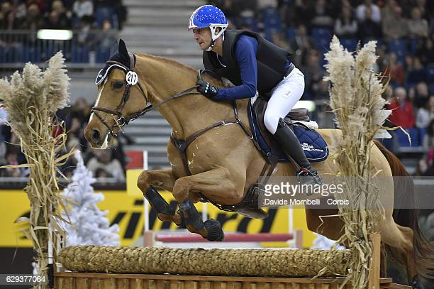 Karim Florent of France, riding Pegase du Tuc during indoor Cross Country Competition eventing, Rolex Grand Slam, 56th EDITION CHI Geneve, PALEXPO...