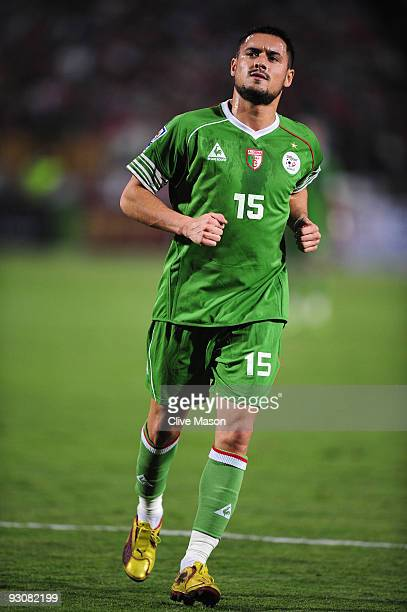Karim Ky Ziani of Algeria during the FIFA2010 World Cup qualifying match between Egypt and Algeria at the Cairo International Stadium on November 14...
