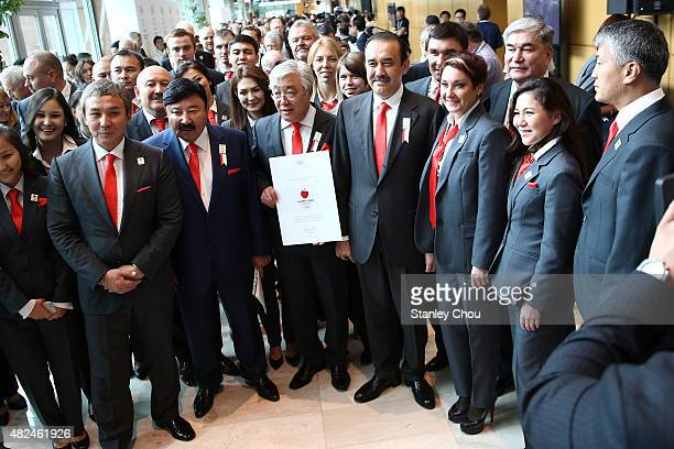 Karim Massimov Prime Minister of Kazakhstan Yerlan Idrissov Minister of Foreign Affairs of KazakhstanTemirkhan Dosmukhambetov President of the...