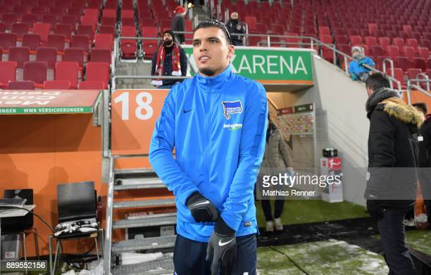 Karim Rekik of Hertha BSC before the game between FC Augsburg and Hertha BSC on December 10 2017 in Augsburg Germany a