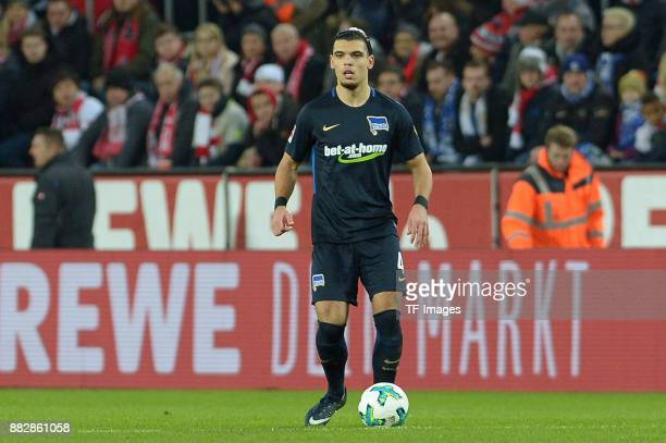 Karim Rekik of Hertha BSC Berlin controls the ball during the Bundesliga match between 1 FC Koeln and Hertha BSC at RheinEnergieStadion on November...