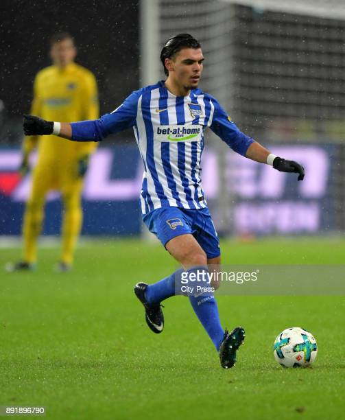 Karim Rekik of Hertha BSC during the game between Hertha BSC and Hannover 96 on december 13 2017 in Berlin Germany