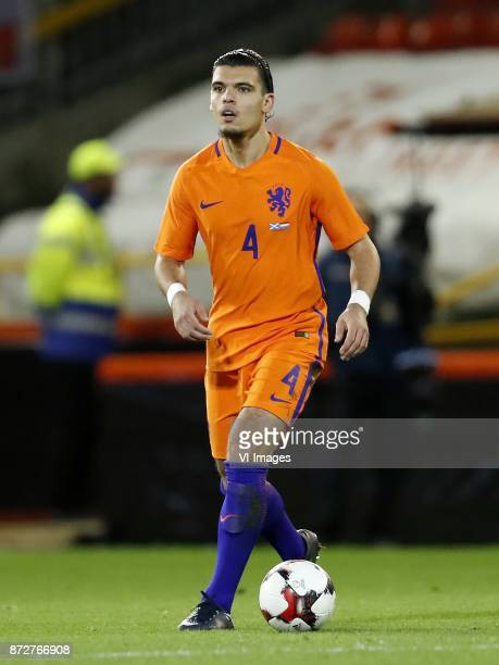Karim Rekik of Holland during the friendly match between Scotland and The Netherlands on November 09 2017 at Pittodrie Stadium in Aberdeen Scotland