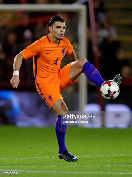 Karim Rekik of Holland during the International Friendly match between Scotland v Holland at the Pittodrie Stadium on November 9 2017 in Aberdeen...
