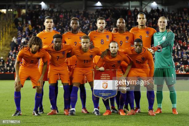 Karim Rekik of Holland Timothy FosuMensah of Holland Kevin Strootman of Holland Ryan Babel of Holland Virgil van Dijk of Holland goalkeeper Jasper...
