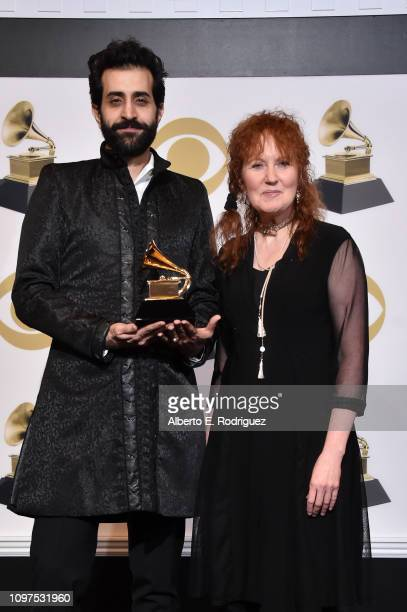 Karim Sulayman and Jeannette Sorrell winners of Best Classical Solo Vocal Album for 'Songs Of Orpheus Monteverdi Caccini D'India Landi' pose in the...